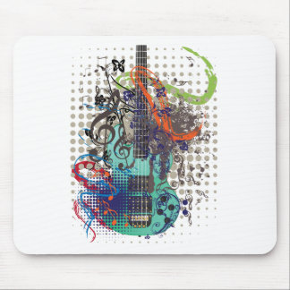 Grunge Guitar Illustration Mouse Pad