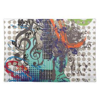 Grunge Guitar Illustration Placemat