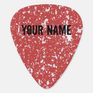 Grunge Guitar Pick Personalized Name and Color