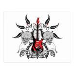 Grunge Guitar Postcard