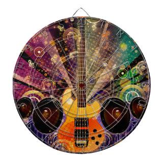 Grunge Guitar with Loudspeakers 2 Dartboard