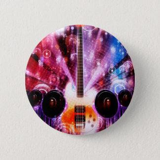 Grunge Guitar with Loudspeakers 3 6 Cm Round Badge