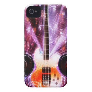 Grunge Guitar with Loudspeakers 3 Case-Mate iPhone 4 Case