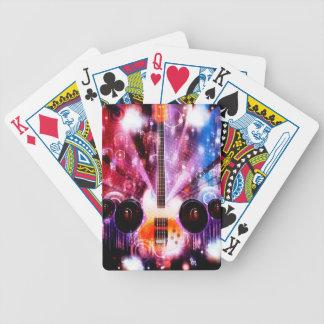 Grunge Guitar with Loudspeakers 3 Poker Deck