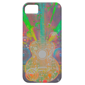 Grunge Guitar with Loudspeakers Case For The iPhone 5