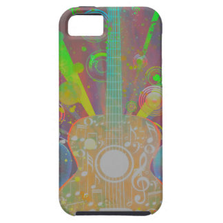 Grunge Guitar with Loudspeakers iPhone 5 Case