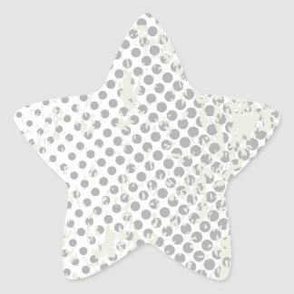 Grunge Halftone Style Dot Matrix Star Sticker