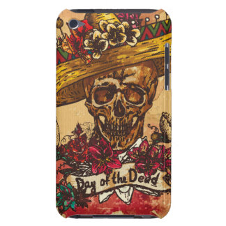 Grunge,halloween,skull,mexican hat,day of the dead iPod touch cover
