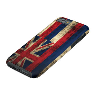 Grunge Hawaii Flag Tough iPhone 6 Case