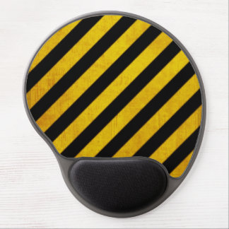 Grunge hazard stripe gel mouse pad