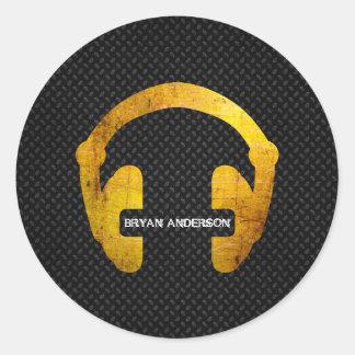 Grunge Headphone DJ Sticker