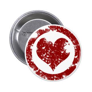 Grunge Heart Buttons
