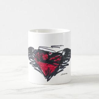 grunge heart mug