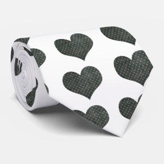 Grunge Heart Pattern Tie