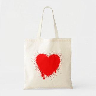 Grunge Heart - Red