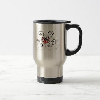Grunge Heart Stainless Steel Travel Mug