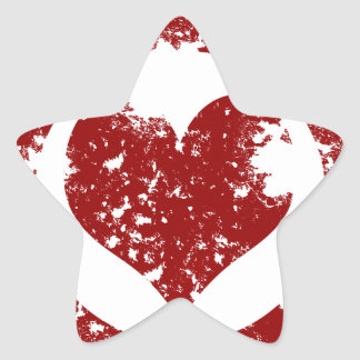 Grunge Heart Star Sticker
