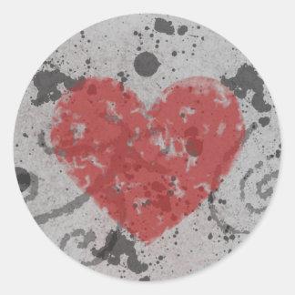 Grunge Heart Sticker
