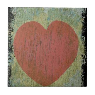 Grunge heart tile