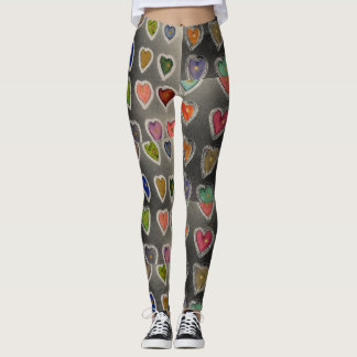 Grunge Hearts Totally Fun Hearty Leggings