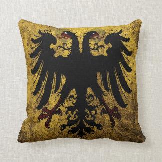 Grunge Holy Roman Empire Flag Throw Pillow