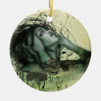 Grunge Hood Portrait Christmas Ornament