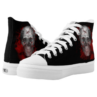 Grunge Horror Skull Goth Metal Canvas Shoes
