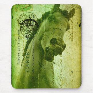 Grunge Horse Postcard-Like Mouse Pad