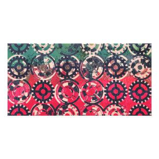 Grunge industrial pattern photo cards