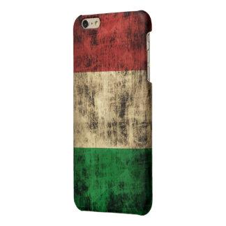 Grunge Italian Flag Glossy iPhone 6 Plus Case