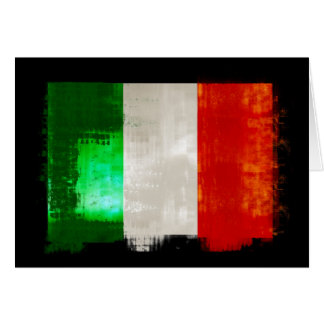 Grunge Italy flag for Italians of Italia - forza Card