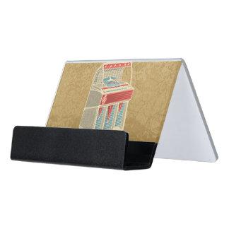 Grunge Jukebox Desk Business Card Holder