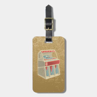 Grunge Jukebox Luggage Tag