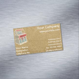 Grunge Jukebox Magnetic Business Cards