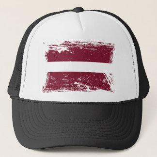 Grunge Latvia Flag Trucker Hat