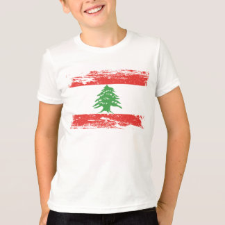 Grunge Lebanon Flag T-Shirt