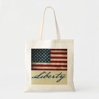Grunge Liberty Fourth Of July Tote Bag