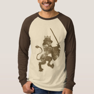Grunge Lion King Men's Long Sleeve Raglan Shirt