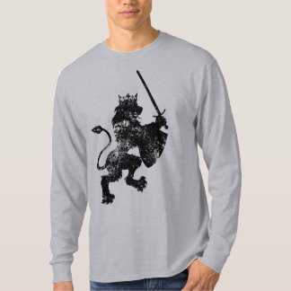 Grunge Lion King Men's Long Sleeve Shirt