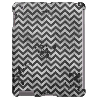 Grunge Look Distressed Chevron Pattern in Greys