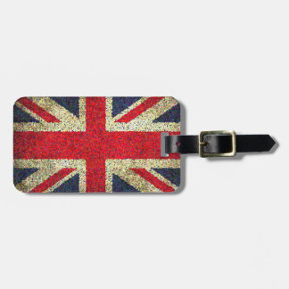 Grunge Look Union Jack Flag Luggage Tag