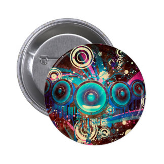 Grunge Loud Speakers 2 6 Cm Round Badge