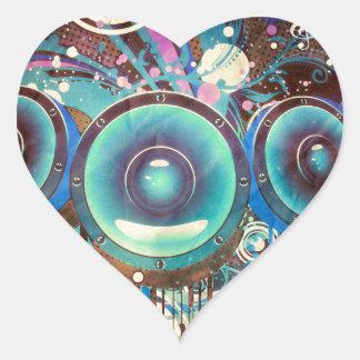 Grunge Loud Speakers 2 Heart Sticker