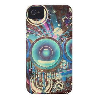 Grunge Loud Speakers 2 iPhone 4 Case