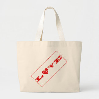 Grunge Love Rubber Stamp Tote Template Jumbo Tote Bag