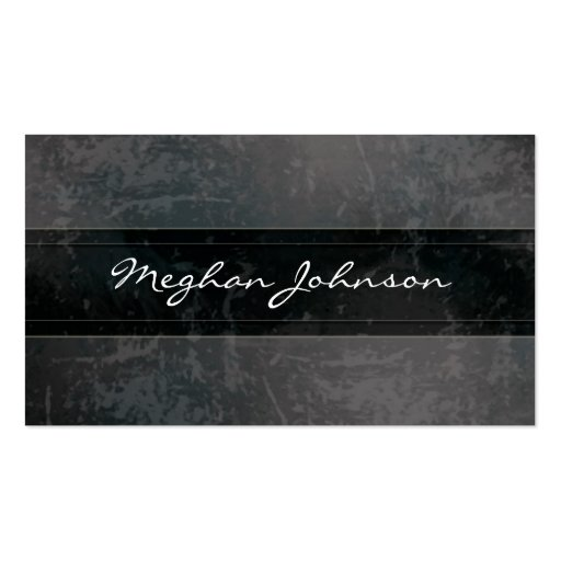 Grunge Marble Black Trendy Business Card