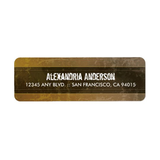 Grunge Marble Return Address Label (sepia)