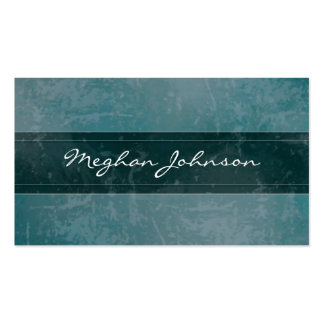 Grunge Marble Teal Trendy Business Card