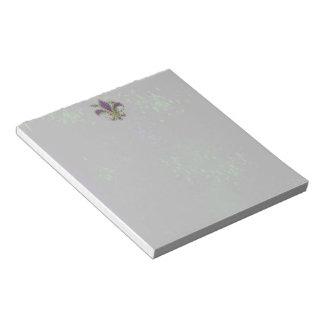 Grunge Mardi Gras Notepad
