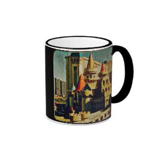 Grunge Medieval Castle Ringer Mug